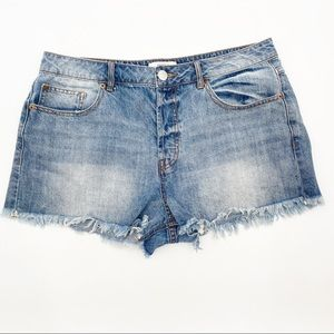 FOREVER 21   Jean Shorts Button Fly Size 30